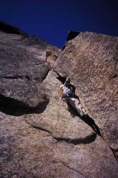 The Cookie Cliff - The Cookie, Left Side 5.10a - Yosemite Valley, California USA. Click to Enlarge