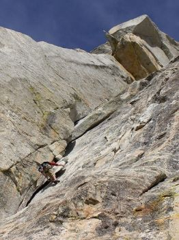 Tahquitz - Open Book 5.9 - Idyllwild, California USA. Click to Enlarge