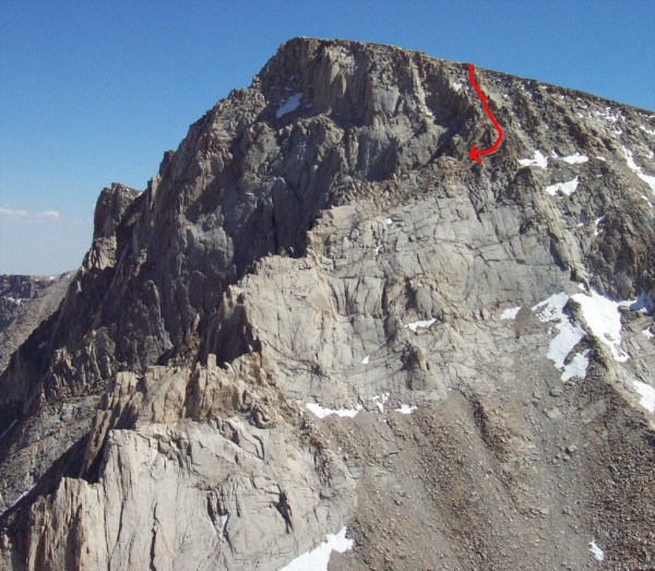 Mountaineers Route and Descent for East Face and East Buttress of Mt. ...