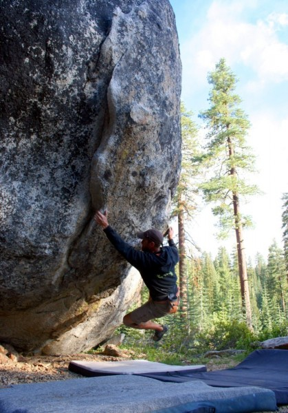 Ken Desjardines on The Pump - sit start V4.