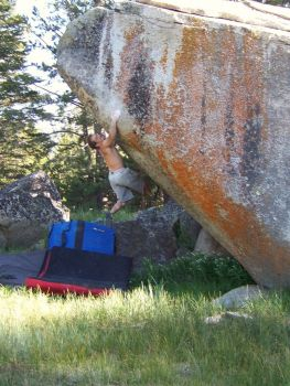 Barbed Wire Boulders - Lake Tahoe Bouldering, California, USA. Click to Enlarge