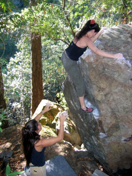 "Valentine Cullen, spotted by Nessa on the ""Triangle Arete"" V1 Canyon T..."