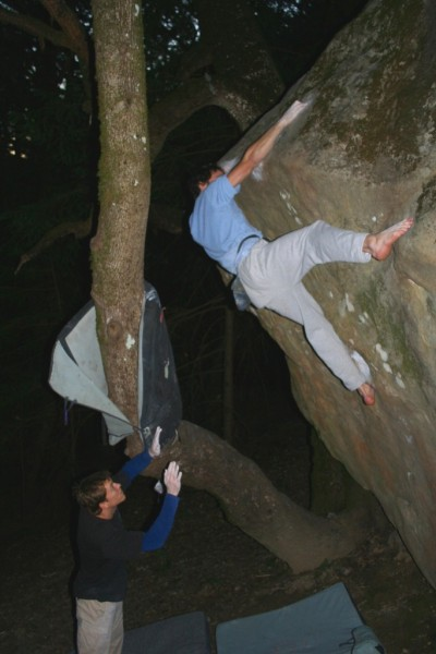 Charlie Barret does Eco Terrorist (V10) -BAREFOOT!!