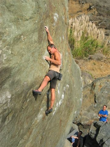 Jim Thornburg conquers the Green Monster - Right Variation (V5)!