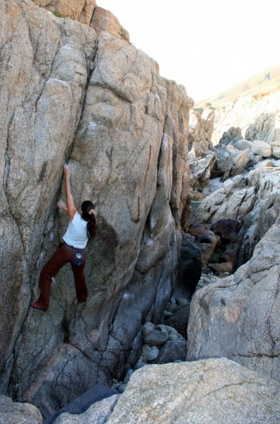 Valentine Cullen on one of the classic V0 cracks!