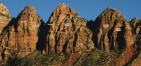 Three Marys - More Than A Woman III/IV 5.10 - Zion National Park, Utah, USA. Click to Enlarge