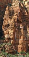 Mt. Moroni - Plan B IV 5.12b - Zion National Park, Utah, USA. Click to Enlarge
