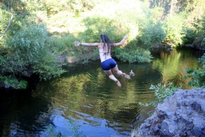Nessa takes the plunge at the Brown Hole