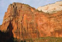Angels Landing - Angels Hair V 5.13a - Zion National Park, Utah, USA. Click to Enlarge