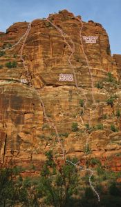 The Organ - Cheyenne Social Club III 5.10 - Zion National Park, Utah, USA. Click to Enlarge