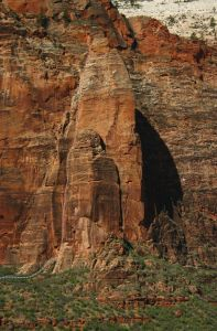 Minotaur Tower - Megamahedral III/IV 5.11- - Zion National Park, Utah, USA. Click to Enlarge