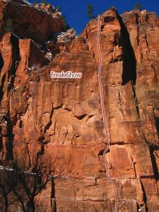 Temple of Sinewava - Freak Show IV 5.12 - Zion National Park, Utah, USA. Click to Enlarge