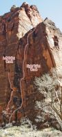 Temple of Sinewava - Left Toilet Crack I 5.10 - Zion National Park, Utah, USA. Click to Enlarge
