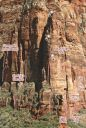 Cerberus Gendarme - Cave Crack 5.7 - Zion National Park, Utah, USA. Click for details.