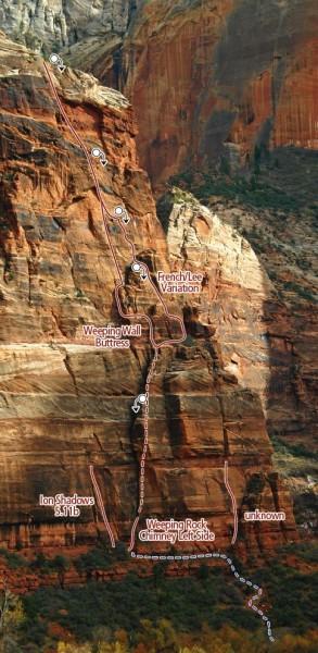 Weeping Wall Zion Climbing