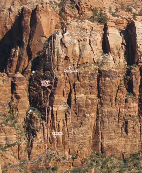 Carbuncle Buttress Zion Climbing