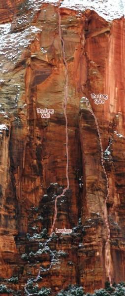Fang Wall Zion Climbing