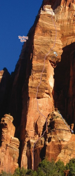 Fang Spire Zion Climbing