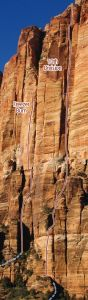 East Temple - 10th Division IV 5.10+ - Zion National Park, Utah, USA. Click to Enlarge