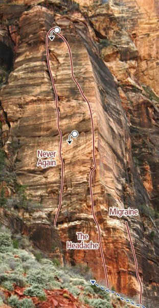 Headache Zion Climbing