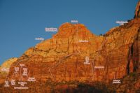 Sub Peak of Bridge Mountain - Golden Gate IV 5.10 - Zion National Park, Utah, USA. Click to Enlarge