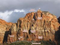 G1 - The Reach Around IV 5.11- - Zion National Park, Utah, USA. Click to Enlarge