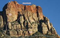 Johnson Mountain - Scramble Route IV 4th class - Zion National Park, Utah, USA. Click to Enlarge