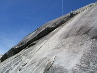 Dike Dome - Bull Dike 5.7 R - Tuolumne Meadows, California USA. Click to Enlarge