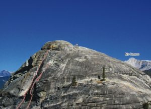 Doda Dome - Silicone Corner 5.7 R - Tuolumne Meadows, California USA. Click to Enlarge