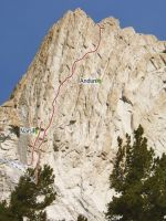 Matthes Crest - Anduril 5.10b R - Tuolumne Meadows, California USA. Click to Enlarge