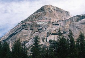 Lamb Dome - Jailbreak 5.9 R - Tuolumne Meadows, California USA. Click to Enlarge