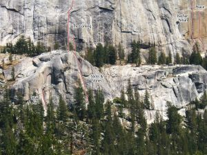 Sticks and Stones - Sticks and Stones 5.10d - Tuolumne Meadows, California USA. Click to Enlarge