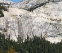 Dozier Dome - Tourette's 5.10b - Tuolumne Meadows, California USA. Click to Enlarge