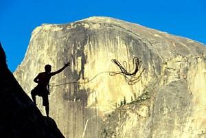Justin Bastien on Royal Arches. Yosemite, CA