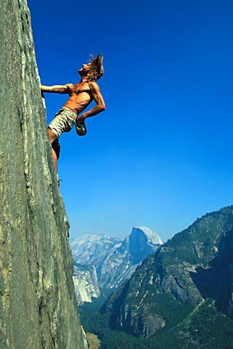 Tim O'Neill on The East Buttress of El Capitan. Yosemite, CA