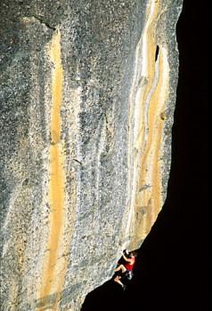 Tim O'Neill on The Rostrum. Yosemite, CA