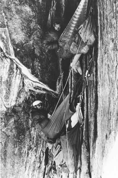 Frost, Robbins and Chouinard in the Black Cave, 1964.