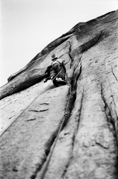 Chuck Pratt on the Headwall on the FA, 1961.