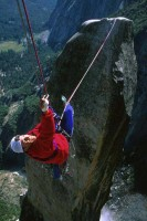 Lost Arrow Spire - Lost Arrow Spire Tip 5.12b or 5.7 C2 - Yosemite Valley, California USA. Click to Enlarge
