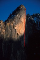Leaning Tower - Wet Denim Daydream A3 5.6 - Yosemite Valley, California USA. Click to Enlarge