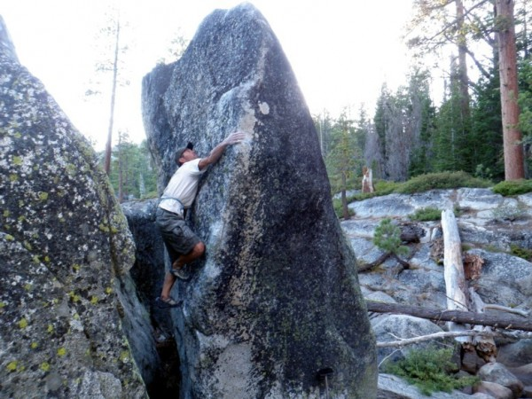 Marcos Nunez bags a classic highball arete (V3/4fa!) - Spicer!