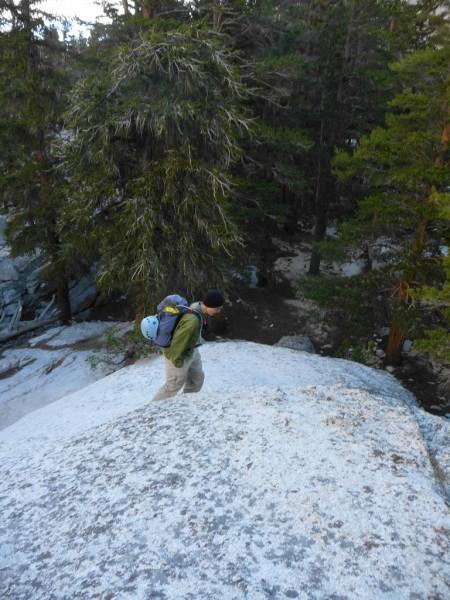 Me hiking up