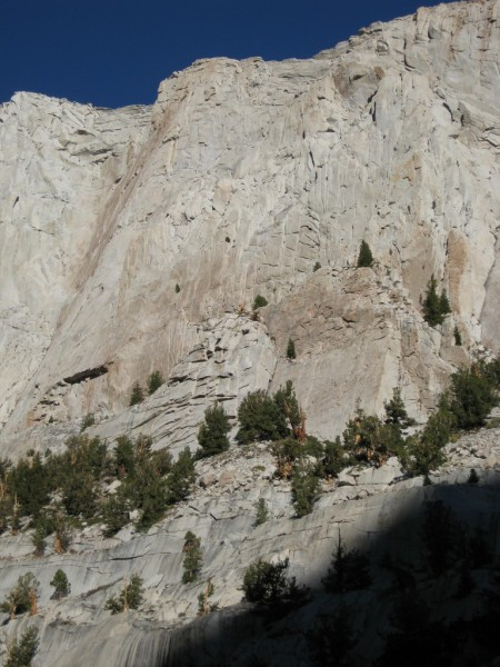 Approaching the south face of Thor Peak