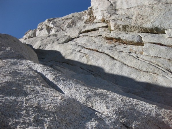 Fourth class traverse after pinnacle