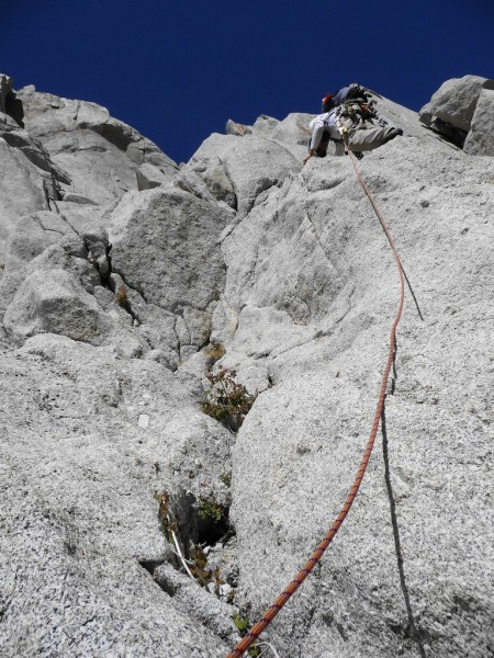 Me dragging up the rope on some class 3-4