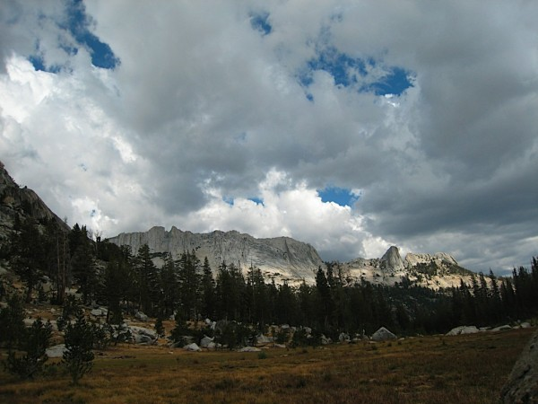 Matthes Crest with omnious clouds from basecamp on Saturday Sept 12, 2...