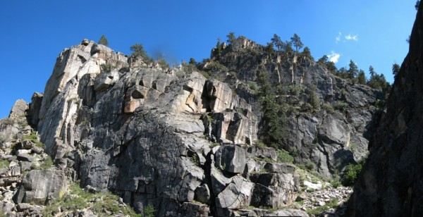 Panorama: Cloudburst Canyon - One of These Days Cliff