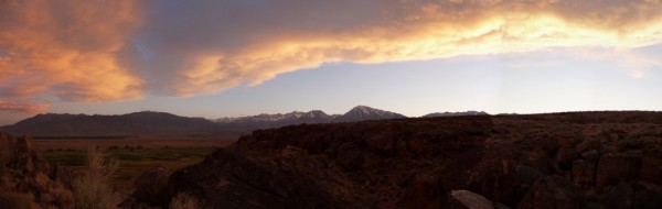 sunset from the sad boulders