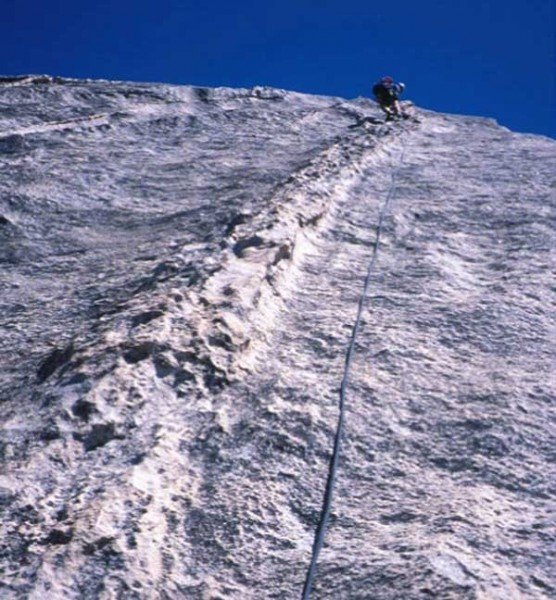 Half Dome's Snake Dike Route features great climbing with long run out...