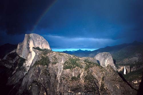 Half Dome and Nevada Fall.